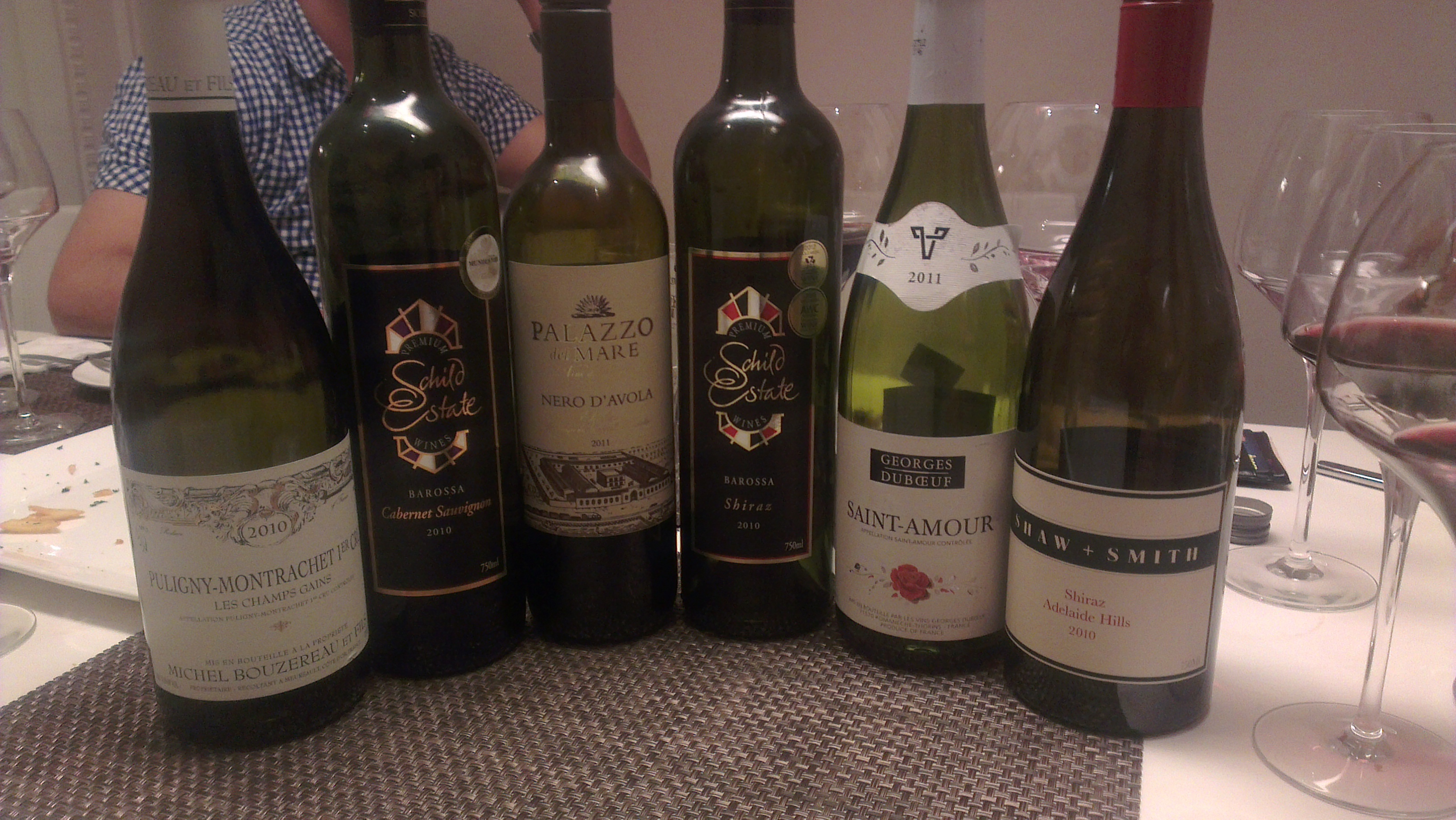 Wines tasted in a session with friends