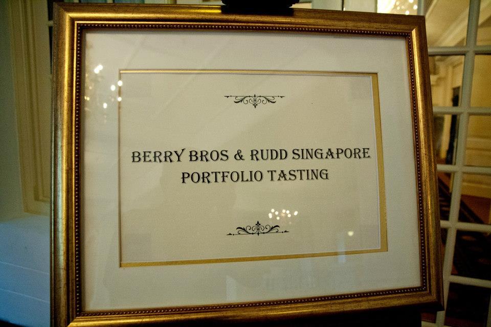 BBR Singapore tasting - signage