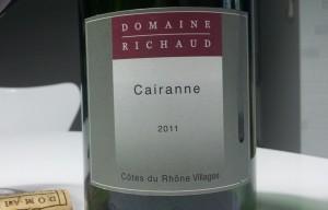 Domaine Richaud Cairanne Côte du Rhône Villages 2011