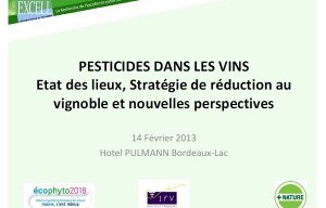 Chemical residues in wines – A wakeup call on farming practices